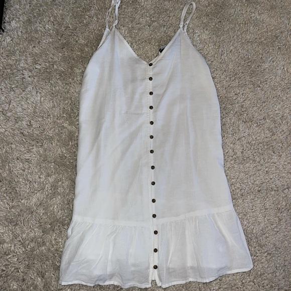 American Eagle White Button Up Mini Dress